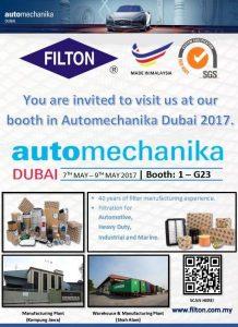 Automechanika Dubai 2017 -7th to 9th May 2017 - Booth No. -1 - G23